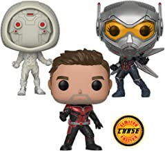 Warp Gadgets Bundle - Funko Pop Marvel: Ant-Man & The Wasp - Ant-Man Chase, The Wasp and Ghost Collectible Vinyl Figures + 1 Free WG Lanyard Included (4 Items)