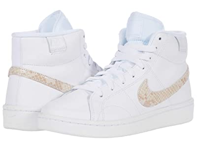 Nike Court Royale 2 Mid (White/Particle Beige/Black) Women