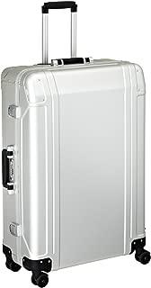 Zero Halliburton Geo Aluminum 30 Inch 4 Wheel Spinner Travel Case, Silver, One Size