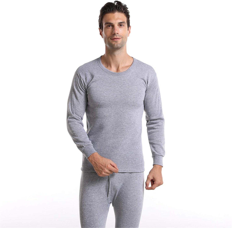 EverNight Men's Lightweight Underwear,Long Sleeve Top & Long Bottoms,Crew Neck Base Layer Undershirt,1,XL