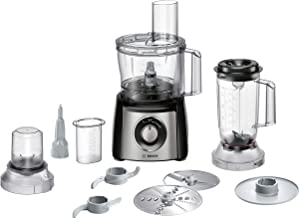 Bosch 800 Watts Food Processor Brushed Stainless Steel, Black - MCM3501MGB