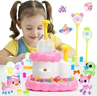 VATOS Juguete Creativo de Bricolaje para niñas Máquina de ensamblaje de Burbujas Adhesivas inflables Regalo Divertido (Máquina de Globos Blanco)