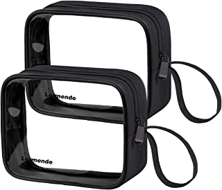 Lermende TSA Approved Travel Toiletry Bag Travel Accessories Clear Quart Size Toiletries Bags (Tote Bag 2 Black)
