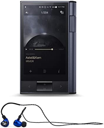Astell & Kern KANN Portable High-Res Audio Player (Astro Silver) with Billie Jean Universal Fit in-Ear Headphones (Blue)