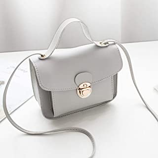 Niome Crossbody Shoulder Bags for Women Chain Leather Purse Satchel Handbags Gray