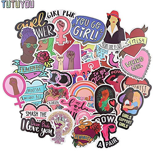 PC1904 35pcs/set Feminist Themes Cartoon Scrapbooking Stickers Decal For Guitar Laptop Luggage Car Fridge Graffiti Sticker