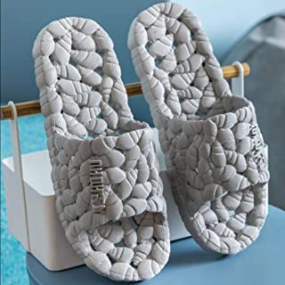 Quick Drying Bathroom Slippers, Open Toe Unisex Hollow Soft Sole Non Slip Water Leakge Breathable Odorless Summer Sandals,E,L