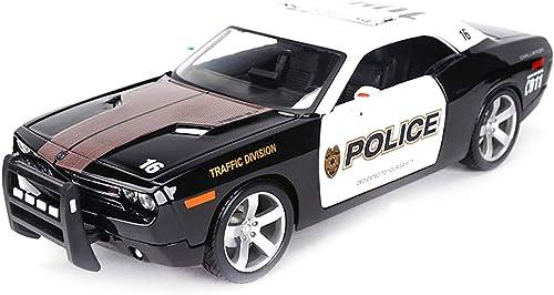 HBWJSH Modèle De Voiture 1 18 Simulation en Alliage Voiture De Police Voiture Modèle De Jouet OrneHommests Collection Bijoux 26.3x10x7.5CM