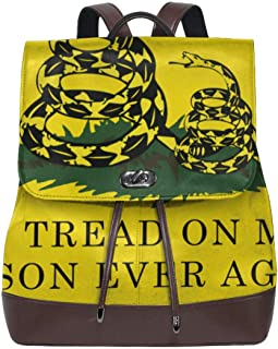 Don't Tread On Me Or My Son Ever Again Snake Leather Backpack Women's Genuine Bookbag School Purse Shoulder Bag
