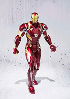 WAHE Anime Statue Captain America 3 Civil War Iron Man MK46 Movable Model Normal Edition Hand Specifications 16CM