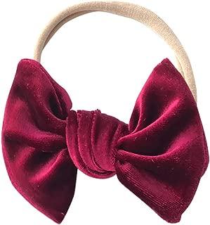 Baby Infant's Soft Velvet Bowknot Headwrap Elastic Nylon Headband