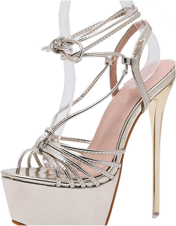 RAINIE002 Woman Sandals Summer shoes 17Cm High Heelswomen Sandals Ladies Stripper shoes Plus Size 34-40