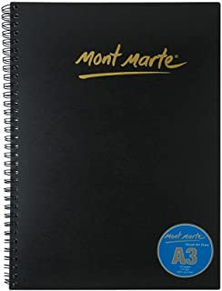 Mont Marte Visual Art Diary Spiral Bound White Paper A3 110gsm 120 Sheet