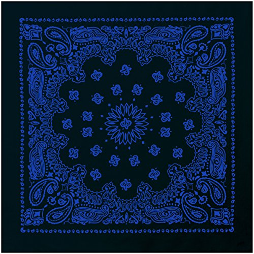 "Rothco 22"" Trainmen Bandana, Black/Blue"
