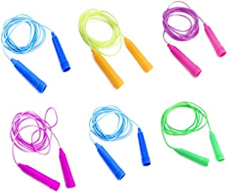 Sc0nni Jump Ropes - 7.8 feet - Set of 6 - Assorted Colors for Boys and Girls Age 5-10 Year Old