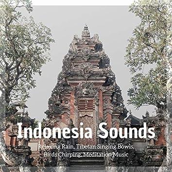 Indonesia Sounds: Relaxing Rain, Tibetan Singing Bowls, Birds Chirping, Meditation Music
