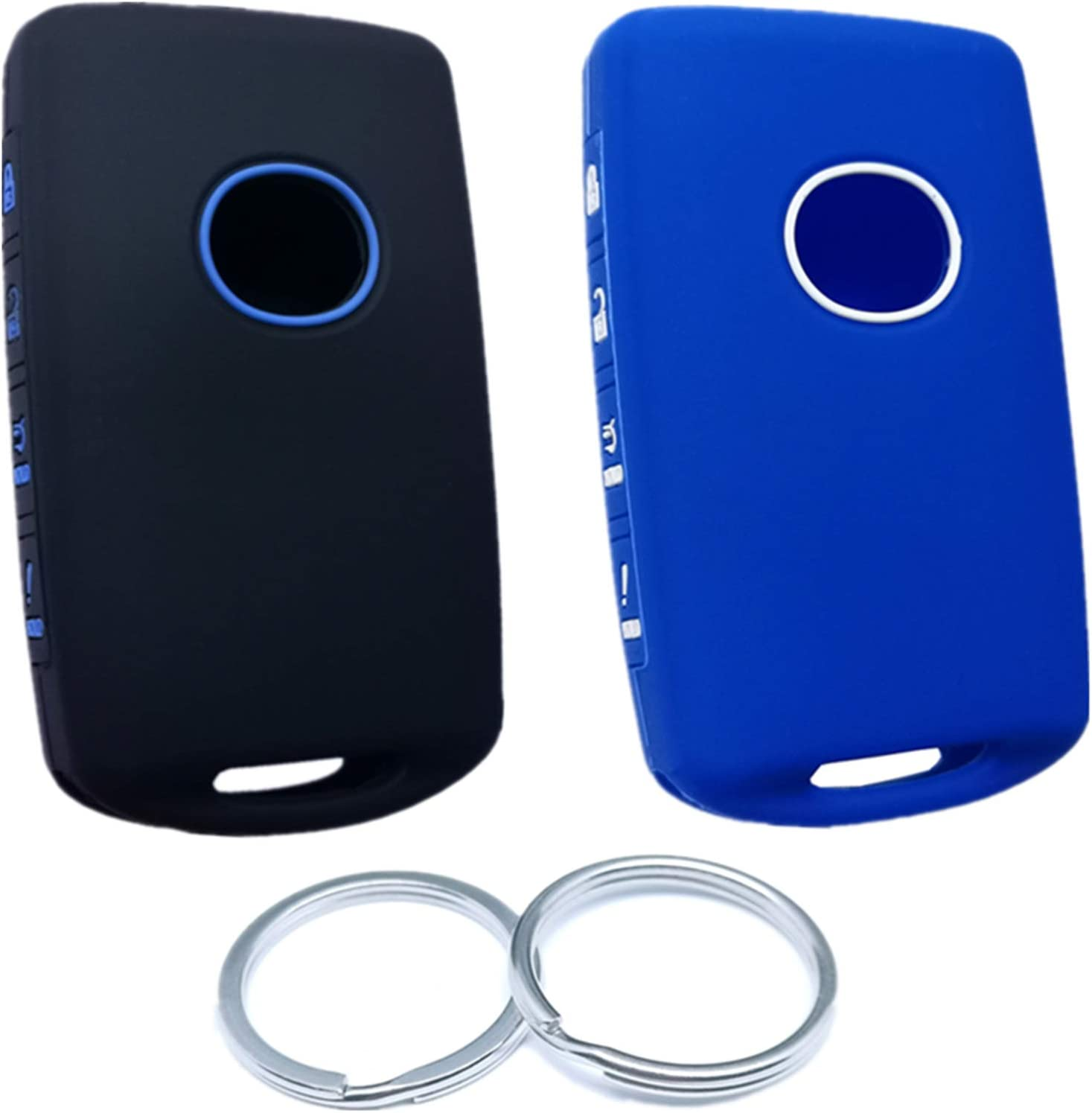 RUNZUIE 2Pcs 4 Buttons Silicone Smart Cover Key Ranking TOP14 Case Fob Seasonal Wrap Introduction Remote