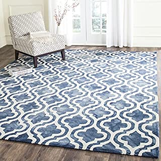 Safavieh Dip Dye Collection DDY537N Handmade Moroccan Watercolor Premium Wool Area Rug, 9' x 12', Navy / Ivory (B017NM9SVY) | Amazon price tracker / tracking, Amazon price history charts, Amazon price watches, Amazon price drop alerts