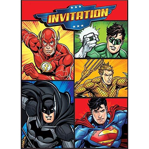 Justice League Invitations, 8ct