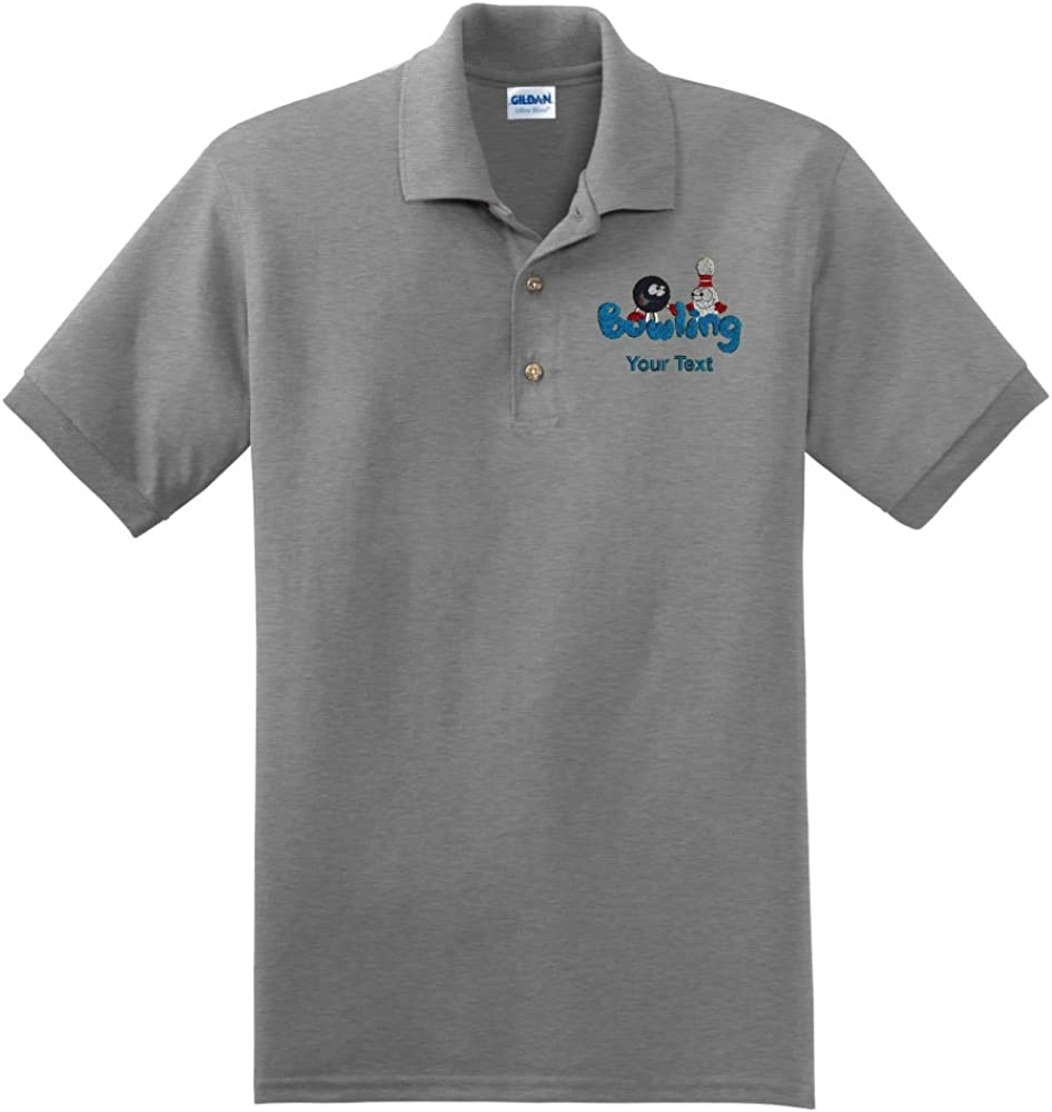 Personalized Custom Embroidered Bowling Design on Polo Shirt