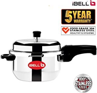 iBELL SS3PC Stainless Steel Pressure Cooker, 3 litres, Silver