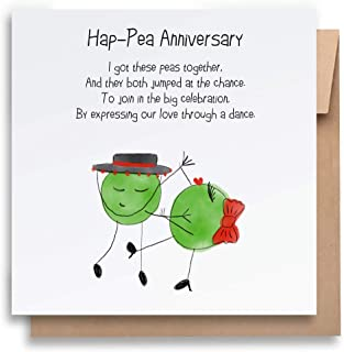 Hap-pea Anniversary Card with Envelope, Funny Anniversary Card Humorous Anniversary Card Anniversary Card For Him Annivers...