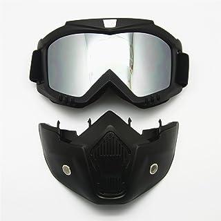 b8796ac879 Motocicleta Bici de la Suciedad ATV Gafas Máscara Desmontable Harley Estilo  Proteger Acolchado Casco Gafas de