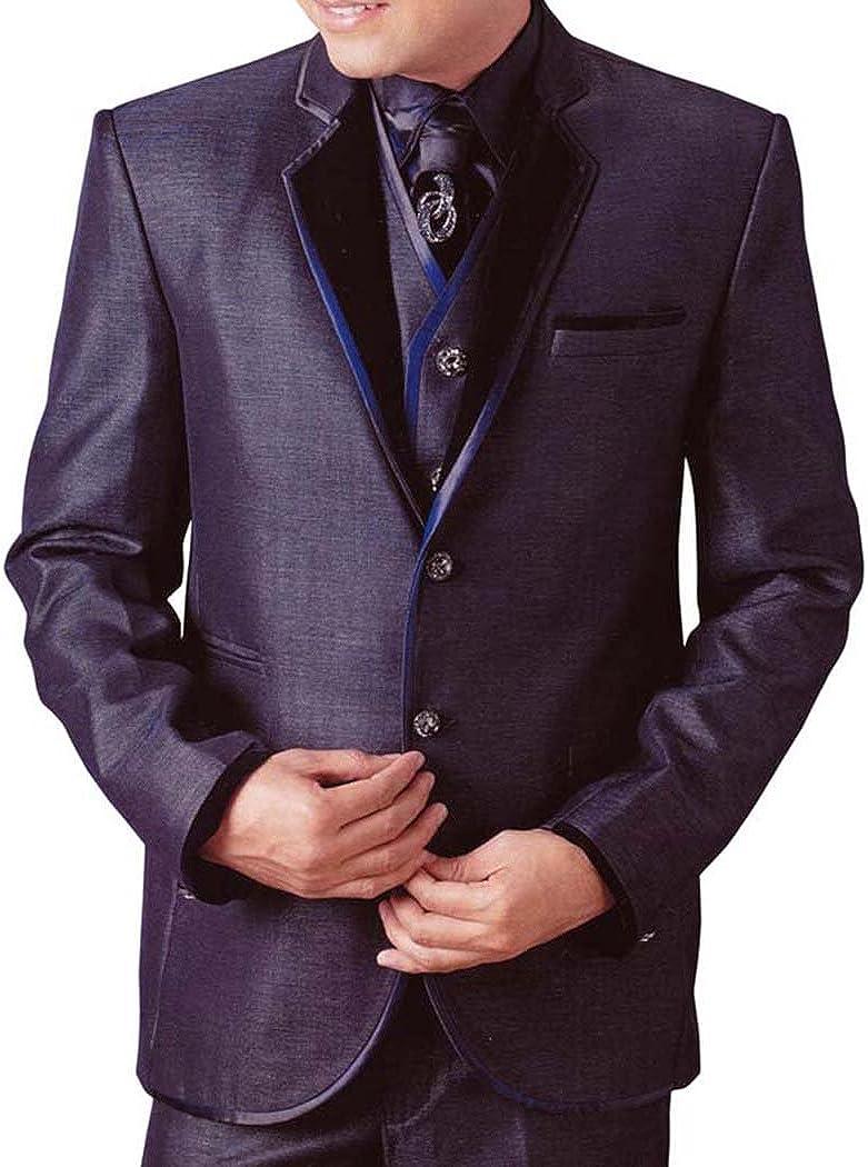 INMONARCH Mens Grape Tuxedo Suit 6 pc Notch Collar TX232
