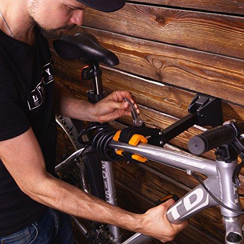 Powerfly Fahrrad Montageständer Fahrradständer zur Wandmontage – Fahrradmontageständer Reparaturständer Reparatur-Wandhalter Ständer - 2