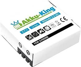 Akku-King Battery compatible with Action-Camera SJ4000  SJ4000B  SJCAM SJ4000  SupTig3  QUMOX SJ4000  288812  288813  BOOMYOURS Li-Ion 900mAh