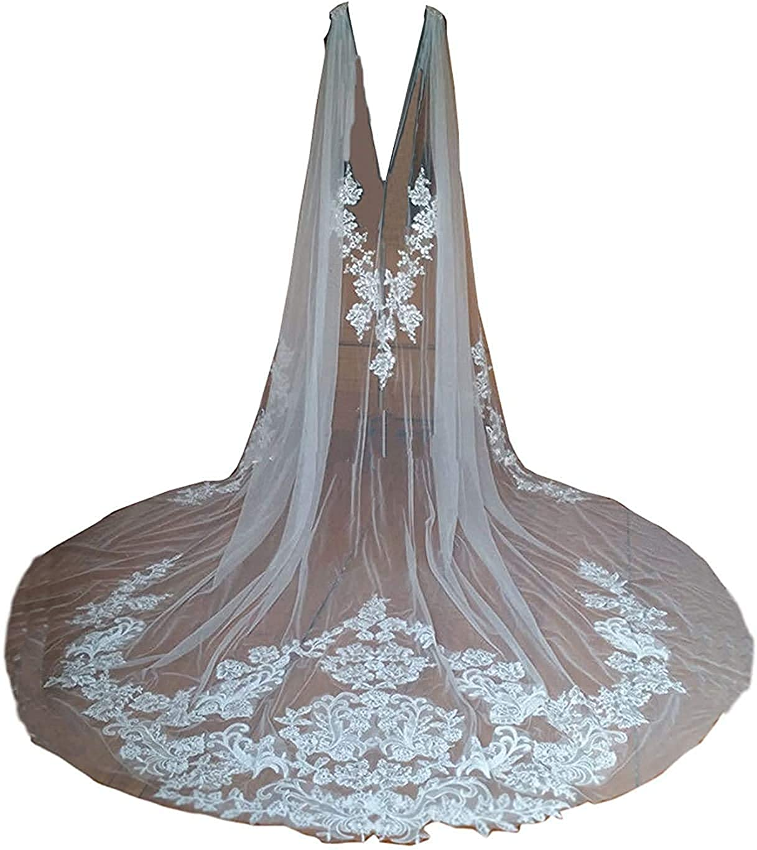 Cibelle Wholesale Women's Long Wedding National uniform free shipping Cape Lace Ve Tulle Applique