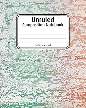 Unruled Journal for writing: Colorful Abstract, Blank Notebook, 8 x