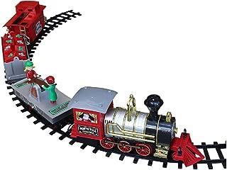 Blue Hat North Pole Junction Christmas Train Set -34 piece