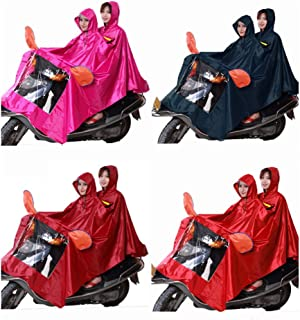 NYDZDM Huahai Motorcycle Electric Car Riding Poncho Male Waterproof Adult Female Increase Thick Double Raincoat (Color : Navy, Size : XXXXL)