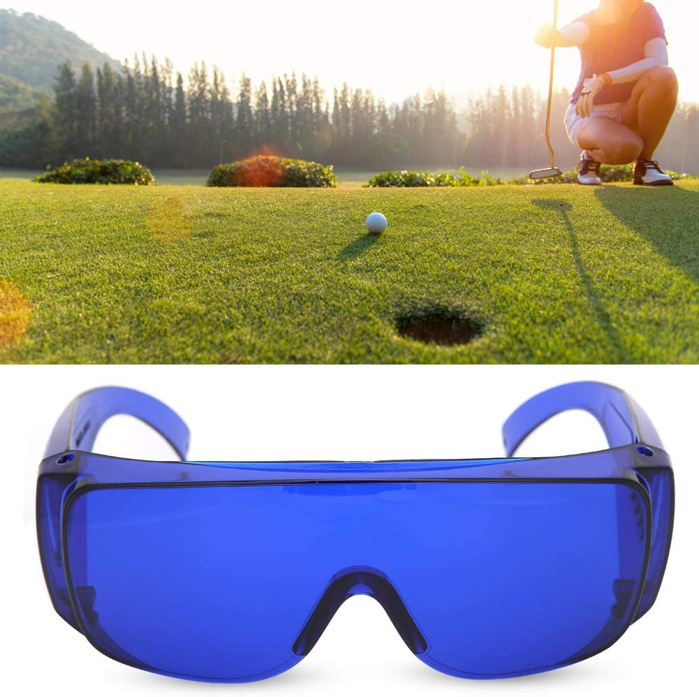 XQAQX Gafas, Gafas de Golf, Gafas de protección para Golf, Gafas de Golf con buscador de Pelotas de Alta definición, Gafas de protección de ubicación, Accesorios, Uso del Carrito