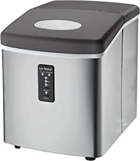 Ice Machine - Portable, Counter Top Ice Maker Machine TG22 - Produces 26 lbs Of Ice Per 24 Hours - Stainless Steel - Top Rated Ice Maker For Countertop use By ThinkGizmos (trademark protected)