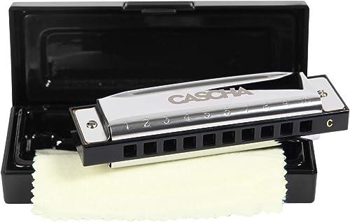 CASCHA Harmonica en Do, harmonica blues diatonique, instrument pour adultes, enfants et débutants avec étui