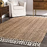 nuLOOM Raleigh Hand Woven Wool Area Rug, 8' x 10', Natural