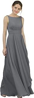 Alicepub A-Line Chiffon Bridesmaid Dress Long Party Evening Dresses Prom Gown Maxi