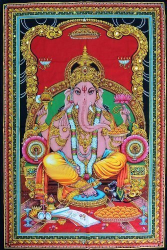 DIYANA IMPEX Lord Ganesh 43' X 30' Tapestry (Multi 1)