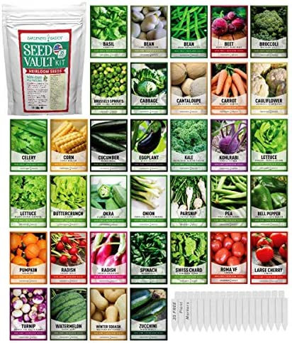 Survival Vegetable Seeds Garden Kit Over 16 000 Seeds Non GMO and Heirloom Great for Emergency product image