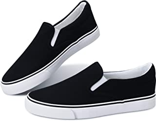 Women's White Sneakers Black Slip on Shoes for Women Low...