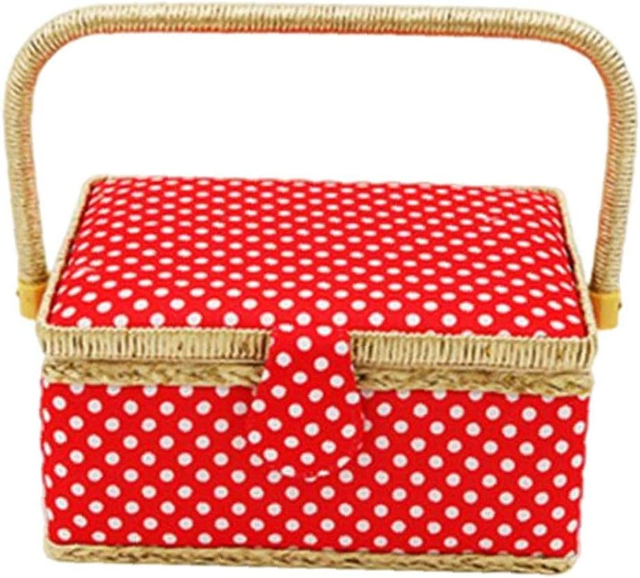 4 years warranty Sewing Basket Organiser Fabric Inventory cleanup selling sale Needle Storage for Thread Qui Box