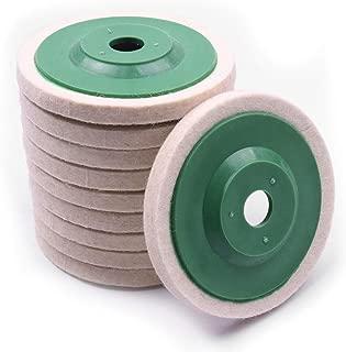 Atoplee 10pcs 3.86'' 98mm Wool Polishing Buffing Wheel Pad Bore Dia