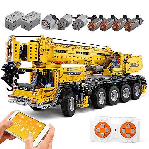 FigureArt Technic Kran Bausteine, 2590 Teile, Mould King 13107 Riesenkran Kran Modell, Doppelte Fernbedienung mit 8 Motoren, Kompatibel mit Lego Technik