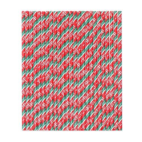 25 piezas de celebraciones festivales cumpleaños feliz Navidad año nuevo papel beber pajitas suministros para fiestas bebidas tubo desechables vajilla (3)