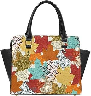 Fall Maple Leaves Women Top Handle Satchel Handbags Shoulder Tote Bag Purse