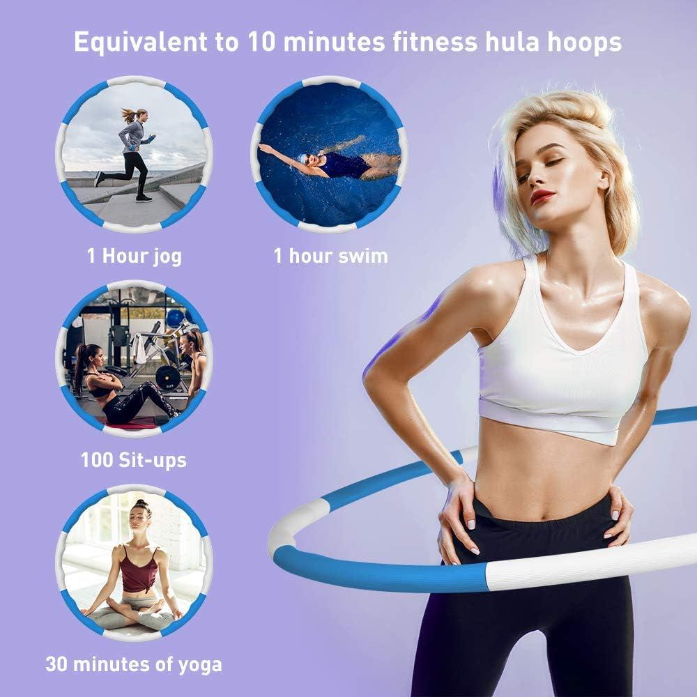 HOOMAGIC Hula Hoop 8 Sections D/émontable Hula Hoop Fitness
