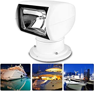 Boat Spotlight, Lightweight Bright Lights Waterproof Car Remote Spotlight, Easy To Carry Marine Police For Yacht Coast Gua...