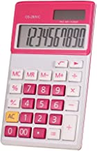 $20 » Basic Desktop Calculator Electronic Accounting Calculator Counter Standard Function for Home and Office Desks (Color : Red...